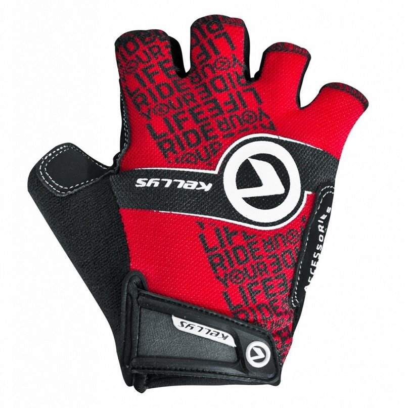 Červené pánské cyklistické rukavice Comfort New, Kellys - velikost S