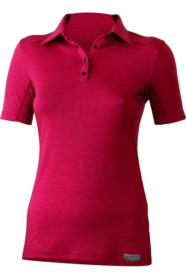 Růžové dámské tričko s krátkým rukávem Lasting - velikost S