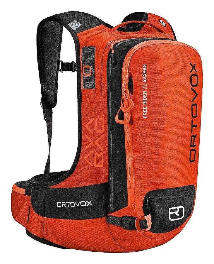 Oranžový lavinový skialpový batoh Ortovox - objem 22 l