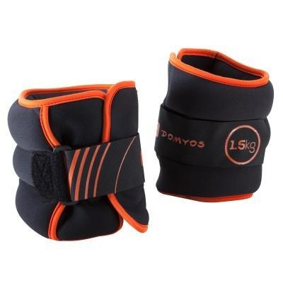Oranžové závaží na ruce a nohy Domyos - 1,5 kg