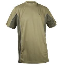 Khaki pánské rybářské tričko s krátkým rukávem Fox International
