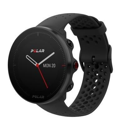 Černé analogové hodinky Polar