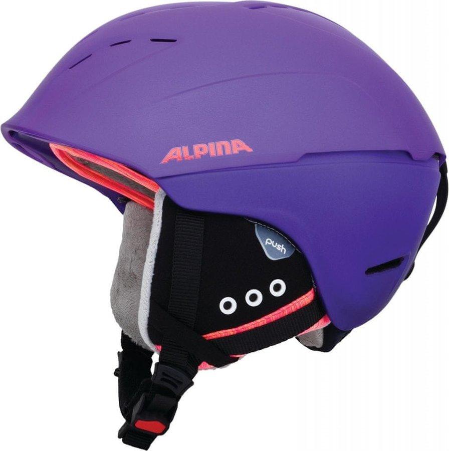 Fialová dámská lyžařská helma Alpina Sports - velikost 52-56 cm