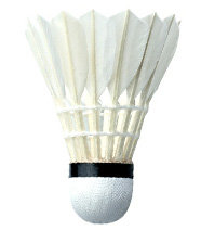 Bílý péřový badmintonový míček Yonex - 12 ks