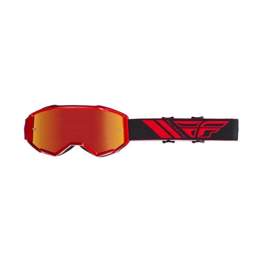 Červené motorkářské brýle Zone, Fly Racing