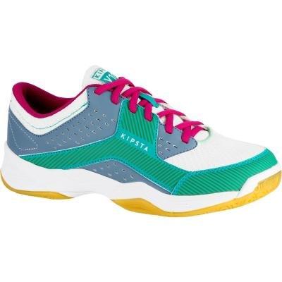 Modro-zelené dámské boty na volejbal V100, ALLSIX