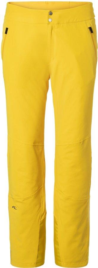 Žluté pánské lyžařské kalhoty Kjus - velikost 54