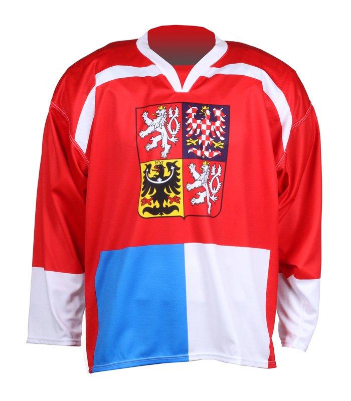 Červený unisex hokejový dres Replika ČR Nagano 1998, Merco