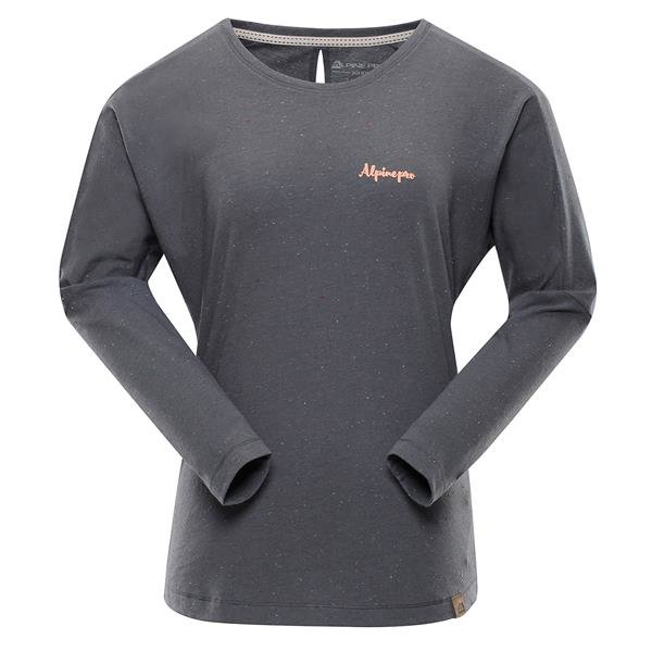 Šedé dámské tričko s dlouhým rukávem Alpine Pro - velikost S-L