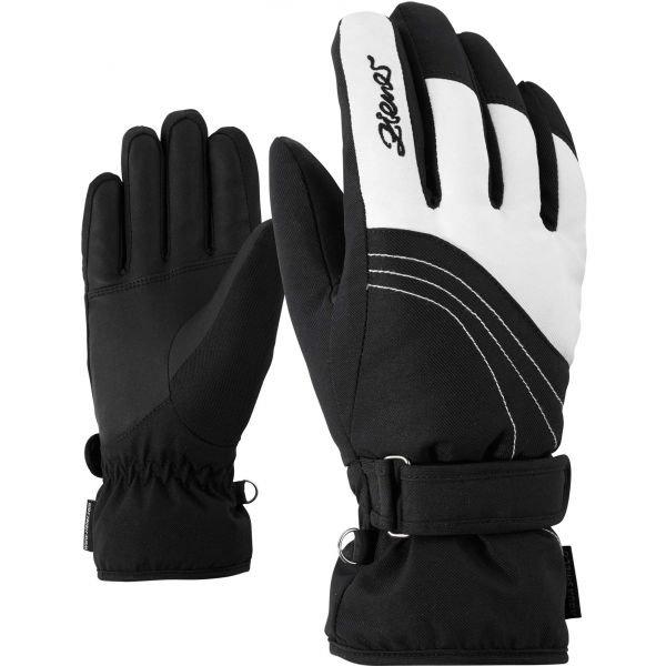 Černé dámské lyžařské rukavice Ziener