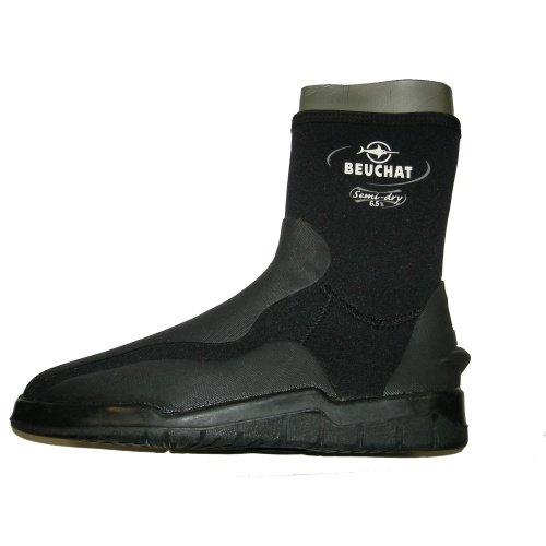 Černo-šedé dámské nebo pánské neoprenové boty - obuv Iceberg, Beuchat - velikost XXL a tloušťka 6,5 mm