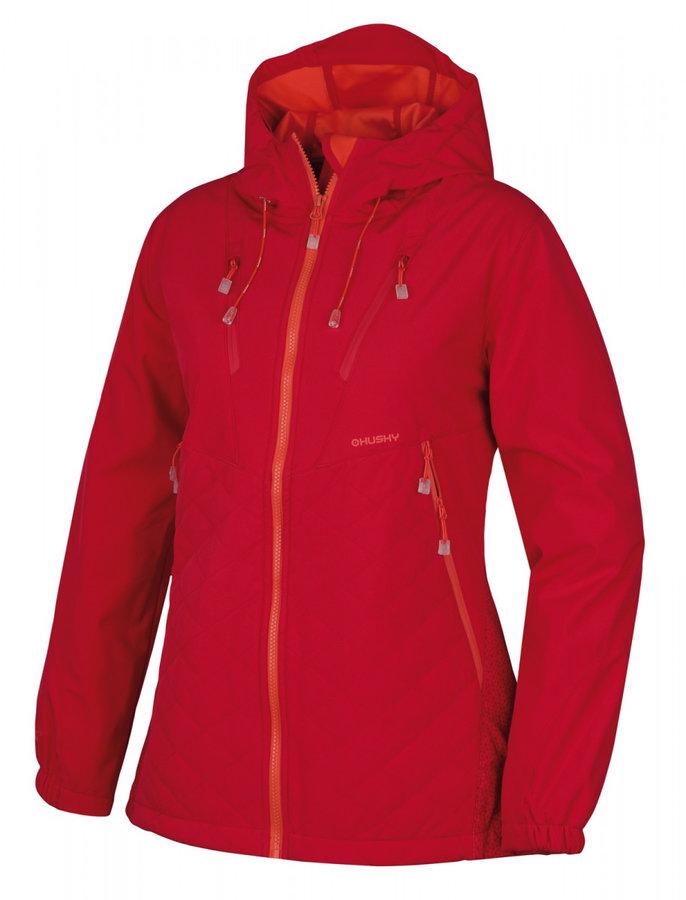 Růžová zimní dámská bunda s kapucí Husky