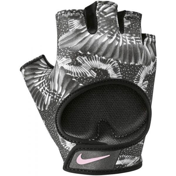 Šedé dámské fitness rukavice Nike