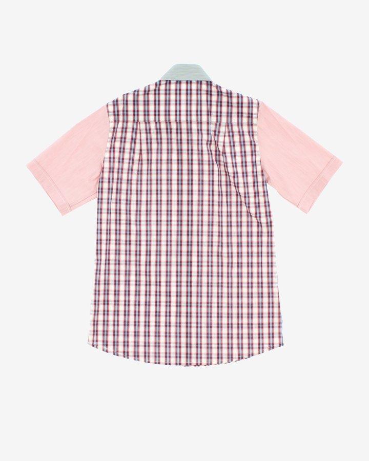 Modro-růžová chlapecká košile s krátkým rukávem John Richmond - velikost 158