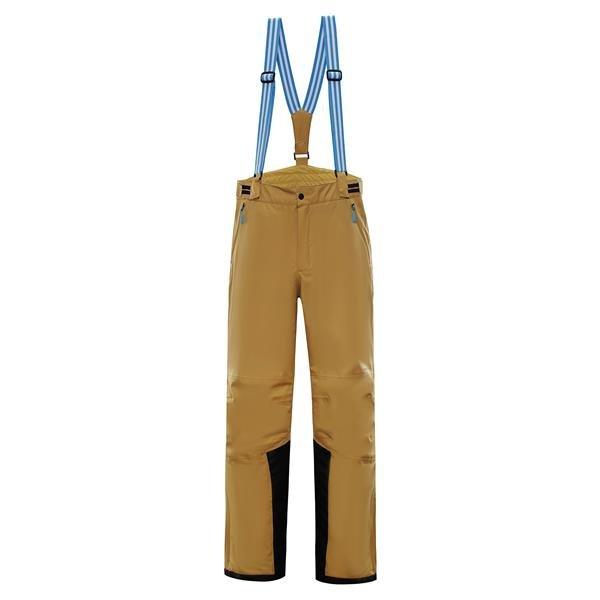 Žluté pánské lyžařské kalhoty Alpine Pro - velikost XXL