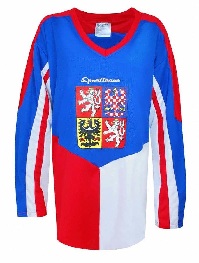 Modrý hokejový dres SportTeam - velikost M