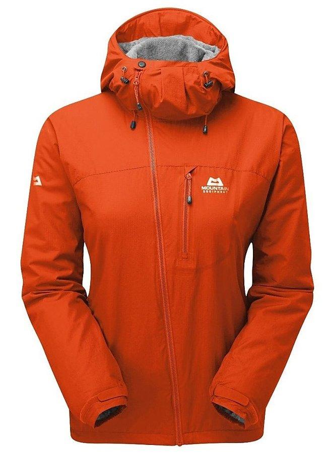 Oranžová dámská turistická mikina s kapucí Mountain Equipment