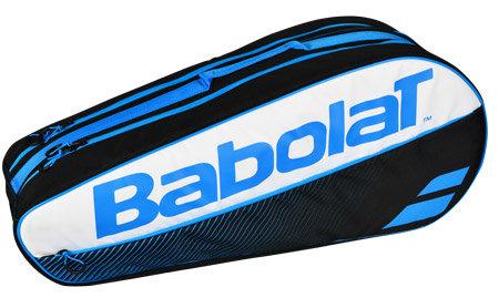 Bílo-černá tenisová taška Club Line Racket Holder Classic X5, Babolat