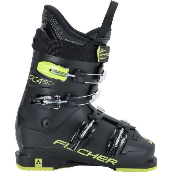 Černé dětské lyžařské boty Fischer