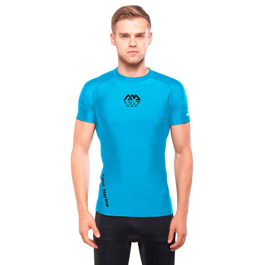 Pánské lycrové tričko Scene, Aqua Marina - velikost S