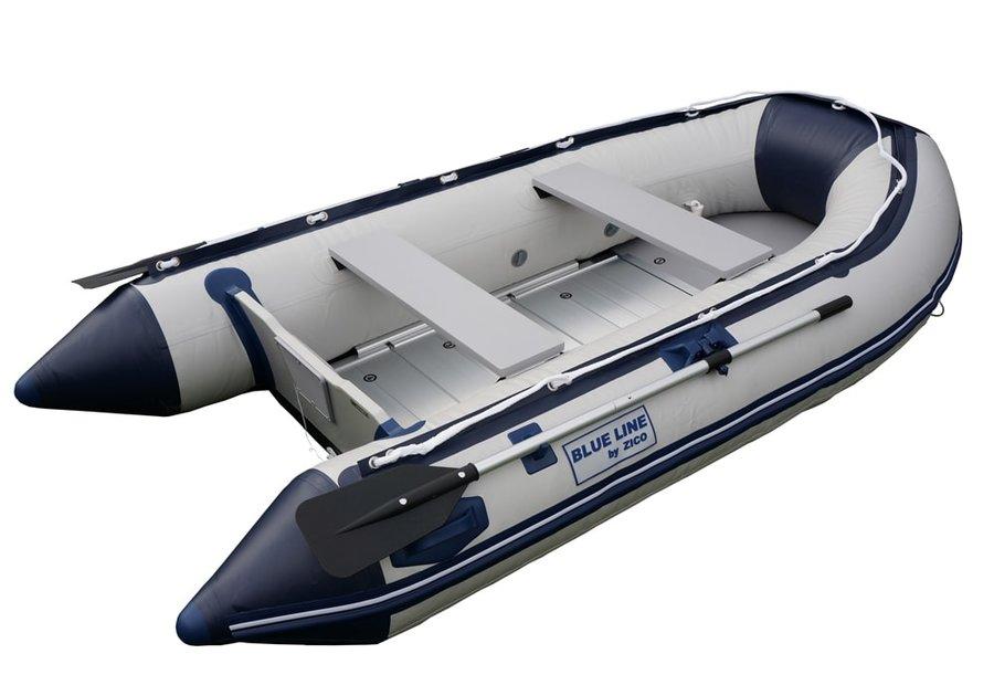 Šedý nafukovací člun s motorem pro 4 osoby BL290, Zico
