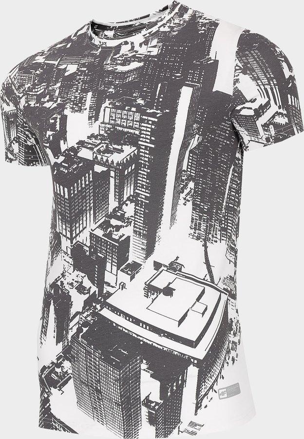 Bílé pánské tričko s krátkým rukávem 4F