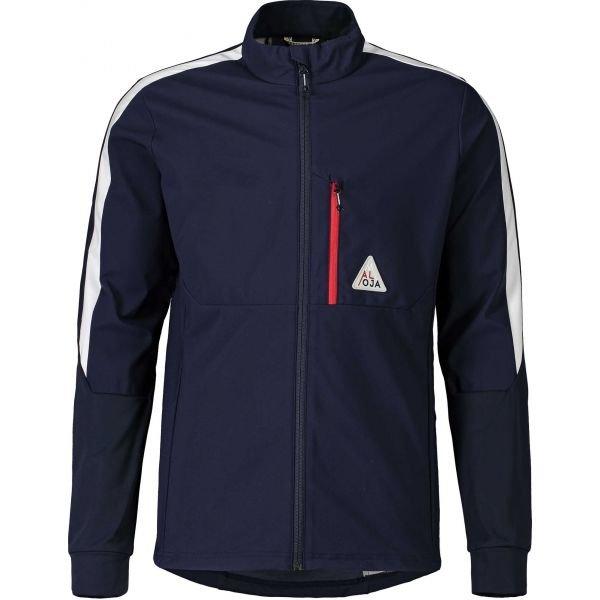 Modrá pánská bunda na běžky bez kapuce Maloja - velikost L