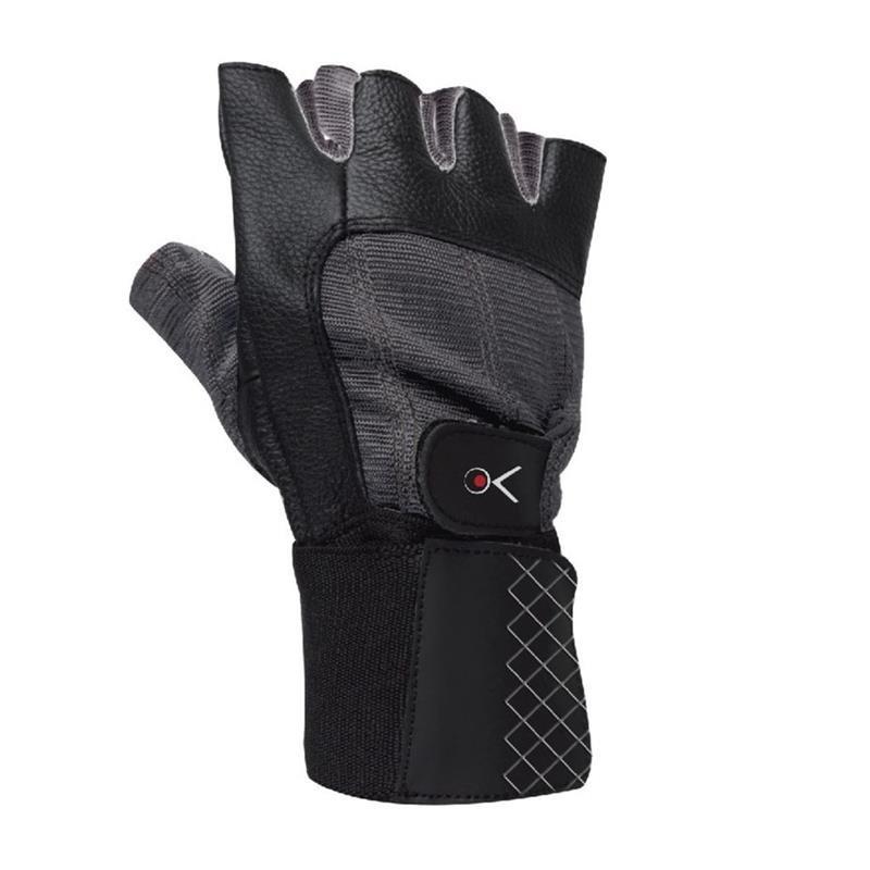 Bílo-černé fitness rukavice Spokey - velikost L