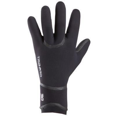 Černé unisex neoprenové rukavice Olaian