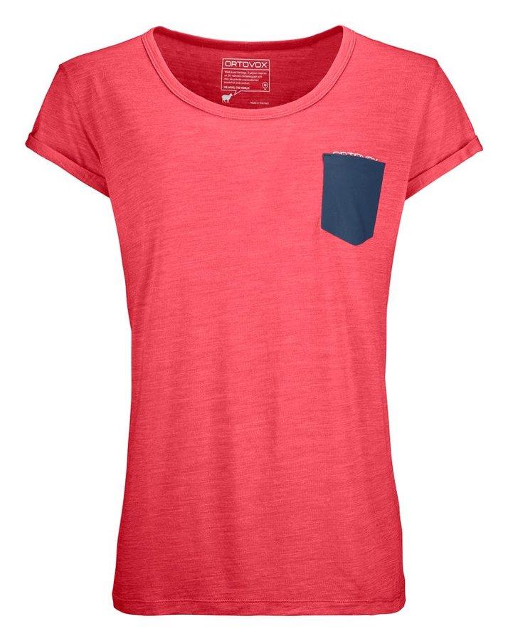Růžové dámské termo tričko s krátkým rukávem Ortovox - velikost M