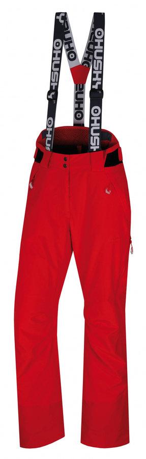 Červené dámské lyžařské kalhoty Husky - velikost L