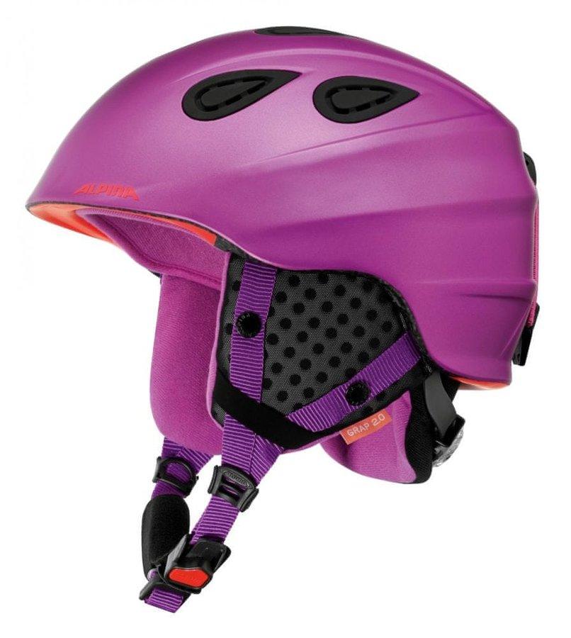 Fialová dámská helma na snowboard Alpina - velikost 54-57 cm