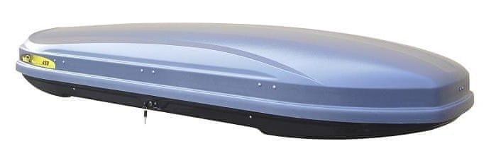 Šedý střešní box Hakr - délka 222 cm a šířka 80 cm