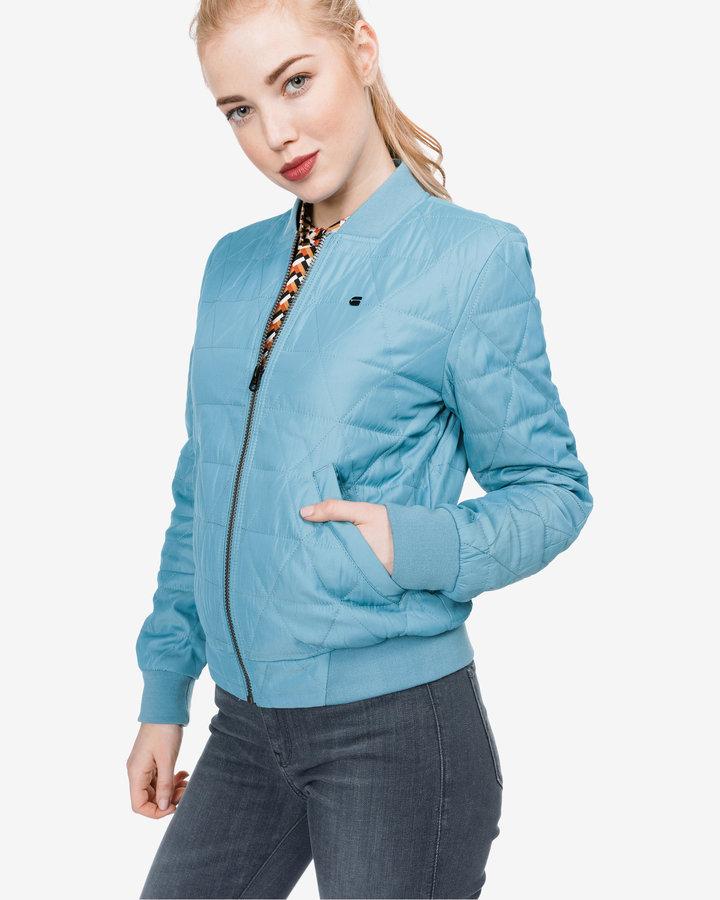 Modrá prošívaná dámská bunda G-Star RAW - velikost L