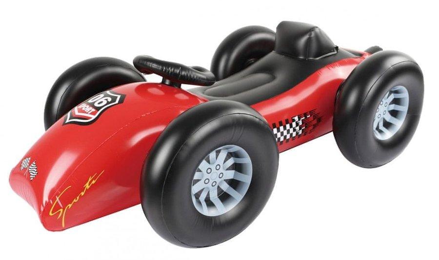 Černo-červené nafukovací lehátko TM Toys - délka 160 cm a šířka 92 cm