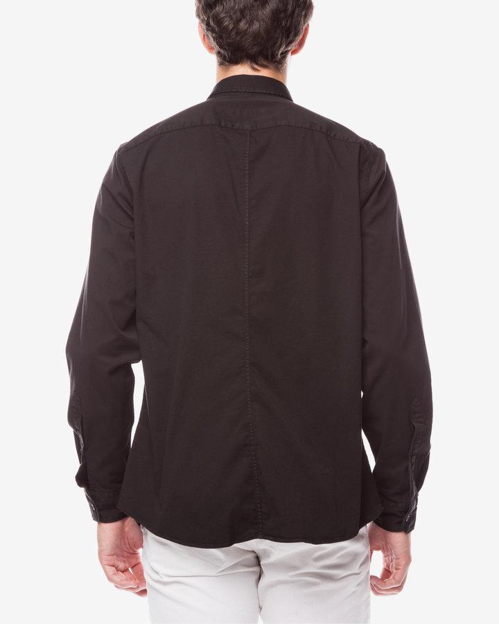 Černá pánská košile s dlouhým rukávem Trussardi Jeans - velikost 41