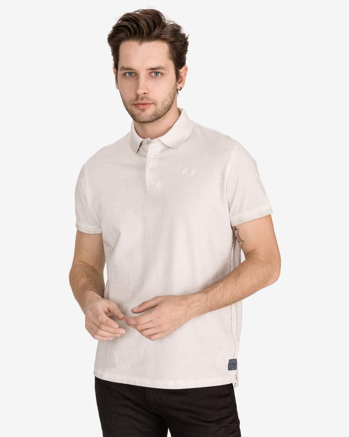 Béžová pánská polokošile s krátkým rukávem Pepe Jeans