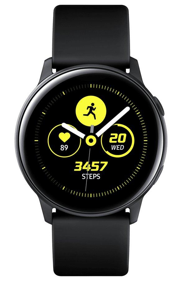 Černé analogové chytré hodinky Galaxy Watch Active, Samsung