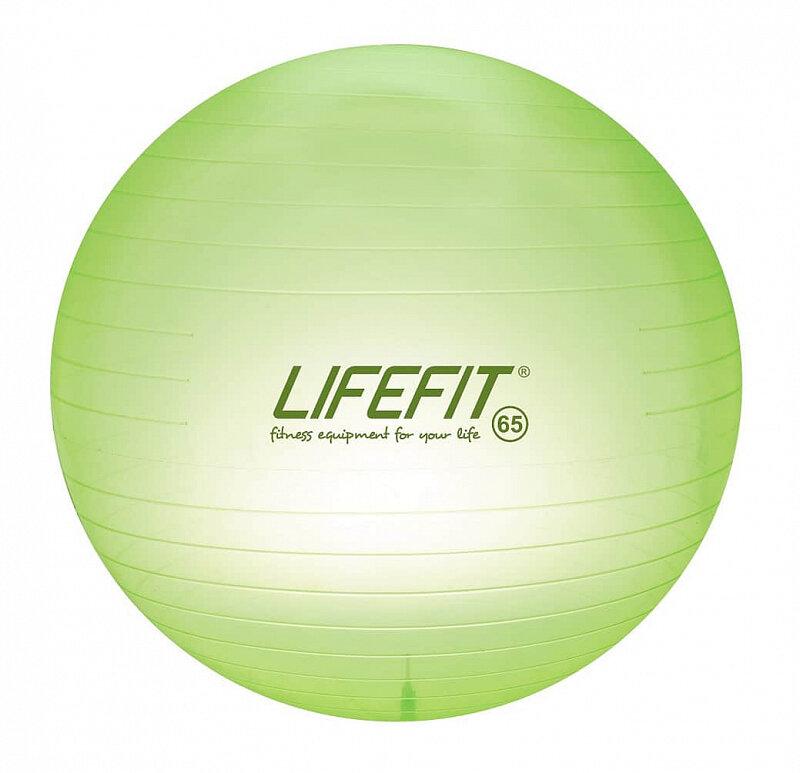 Zelený gymnastický míč Lifefit - průměr 65 cm