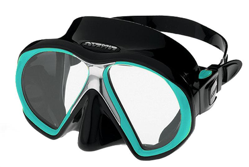 Potápěčská maska - Maska potápěčská (brýle) Subframe Atomic Aquatics, černá/zelená