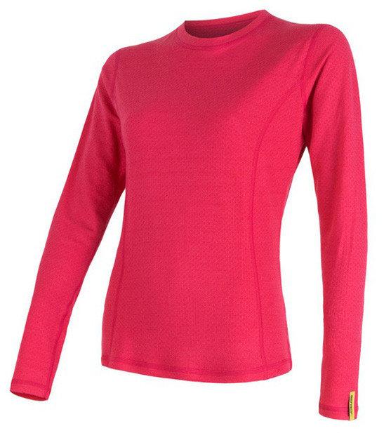 Růžové dámské tričko s dlouhým rukávem Sensor