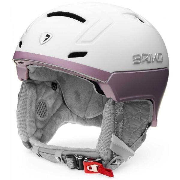 Bílo-růžová dámská lyžařská helma Briko - velikost 56-58 cm