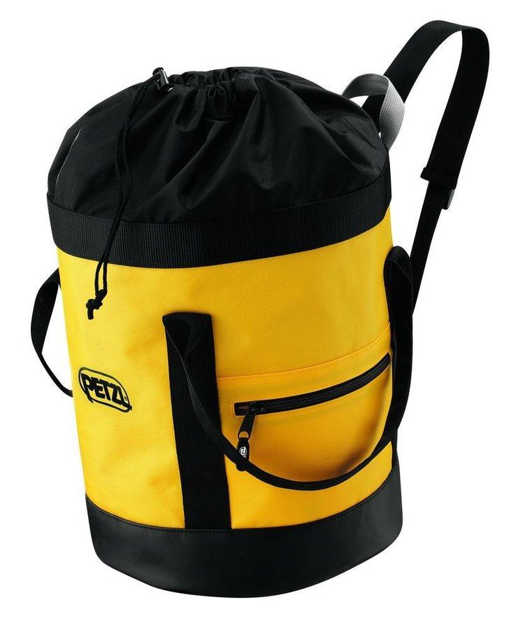 Žlutý vak na lezecké lano Petzl - objem 25 l
