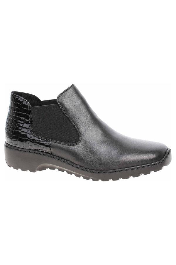 Černé dámské kotníkové boty Rieker - velikost 38 EU
