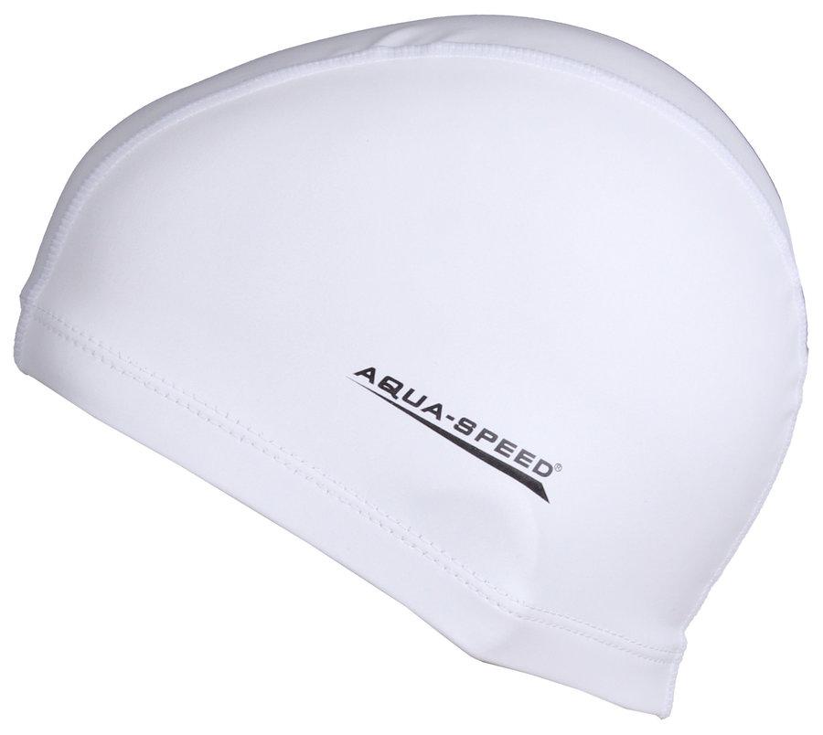 Bílá dámská nebo pánská plavecká čepice Best, Aqua-Speed