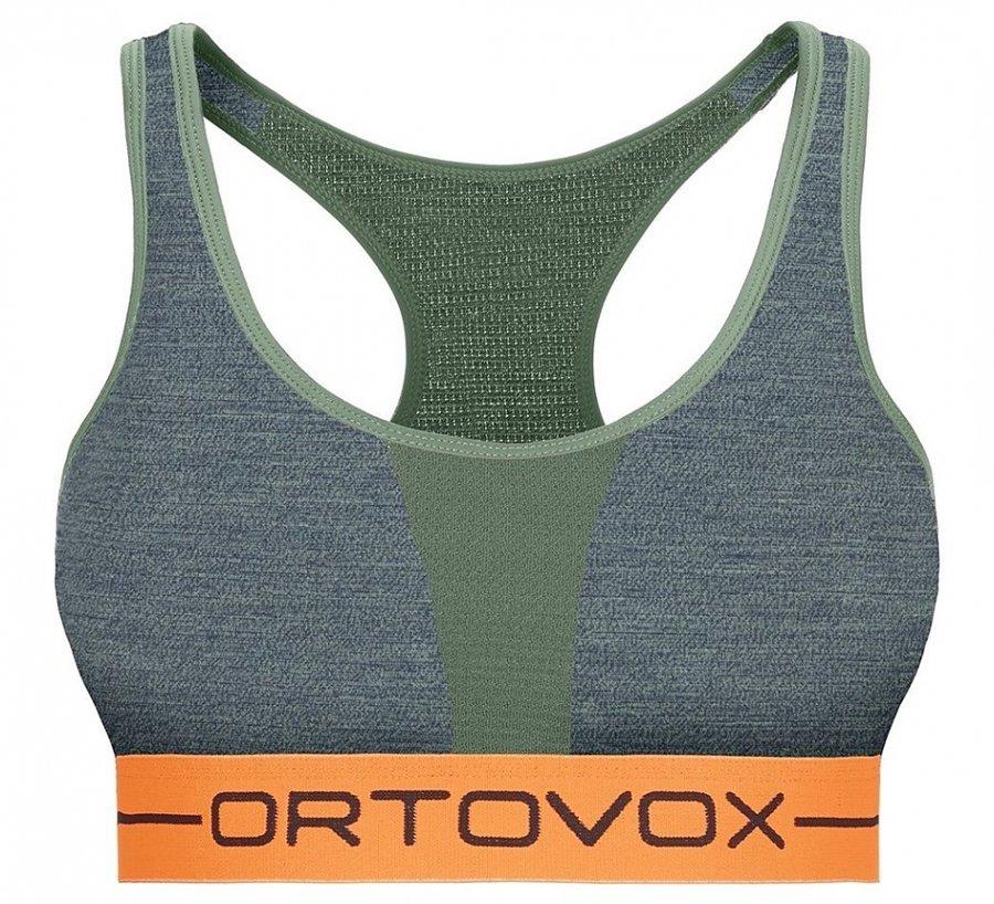 Zelená sportovní dámská podprsenka Ortovox