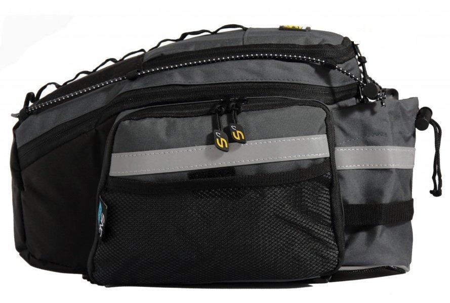 Černo-šedá brašna na kolo na zadní nosič Sport Arsenal - objem 20 l