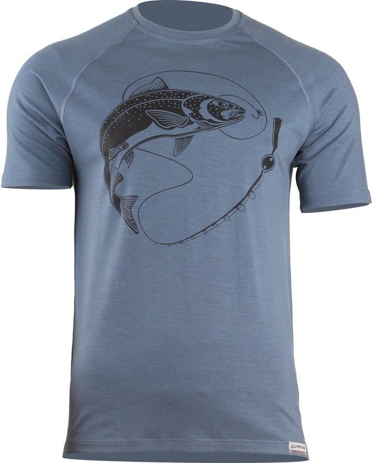 Modré pánské tričko s krátkým rukávem Lasting - velikost XXL