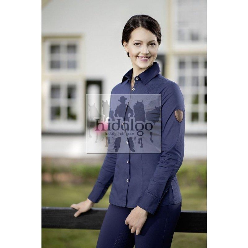 Jezdecká košile - Košile Moena HKM Velikost: L, Barva: Tmavě modrá