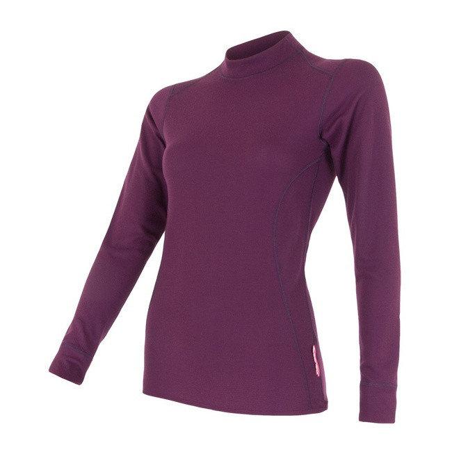Fialové dámské tričko s dlouhým rukávem Sensor